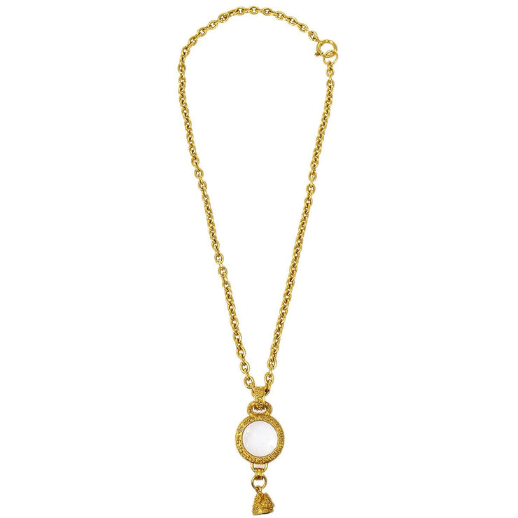 CHANEL  Gold Chain Loupe Bell Pendant Necklace 94A