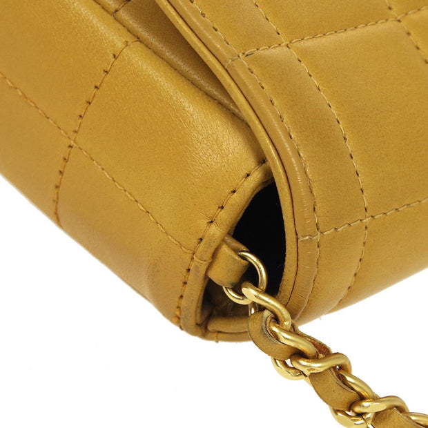 CHANEL Choco Bar Chain Shoulder Bag Beige