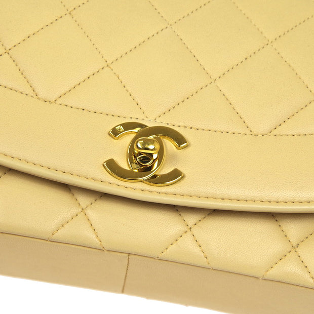 CHANEL Medium Diana Chain Shoulder Bag Beige