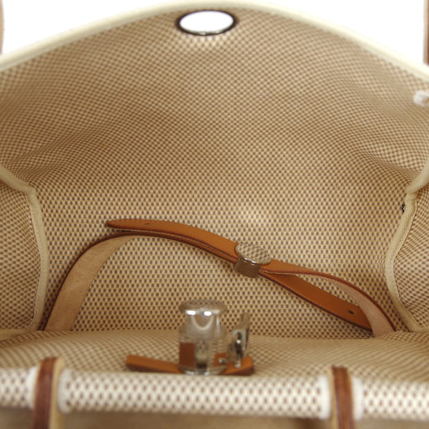 HERMES HERBAG SAC A DOS 2way Backpack Hand Bag Natural Toile GM