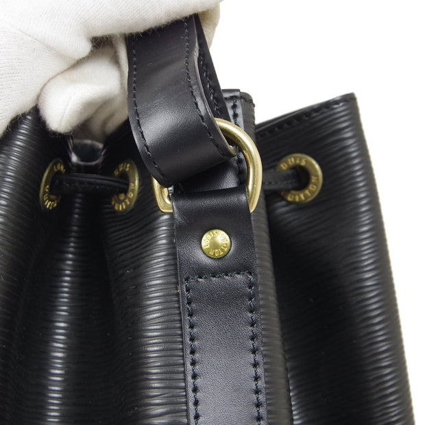 LOUIS VUITTON BUCKET NOE DRAWSTRING SHOULDER BAG EPI BLACK M59002