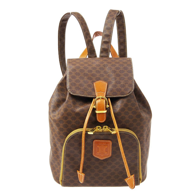 CELINE Macadam Pattern Backpack Brown