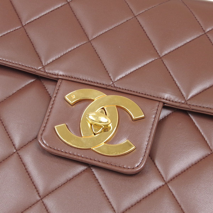 CHANEL Briefcase Business Hand Bag Brown