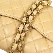 CHANEL Chain Shoulder Bag Beige