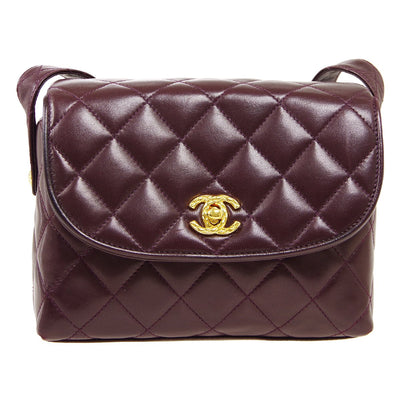 CHANEL Shoulder Bag Purple
