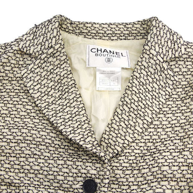 CHANEL 98P #36 Single Breasted Jacket Ivory