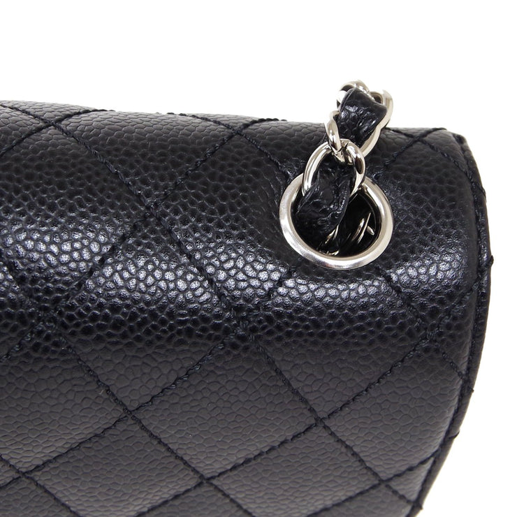 CHANEL East West Shoulder Bag Black Caviar Skin
