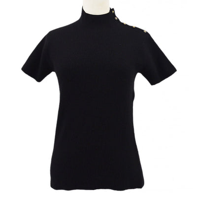 CHANEL 96A #44 Short Sleeve Sweater Black