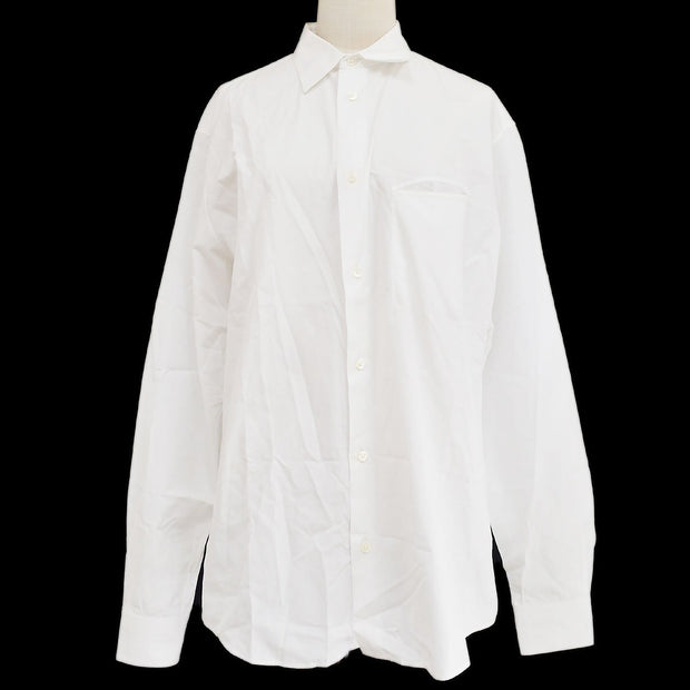 HERMES Stripes Shirts Blouse White #42
