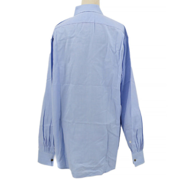 HERMES Stripes Shirts Blouse Light Blue #42