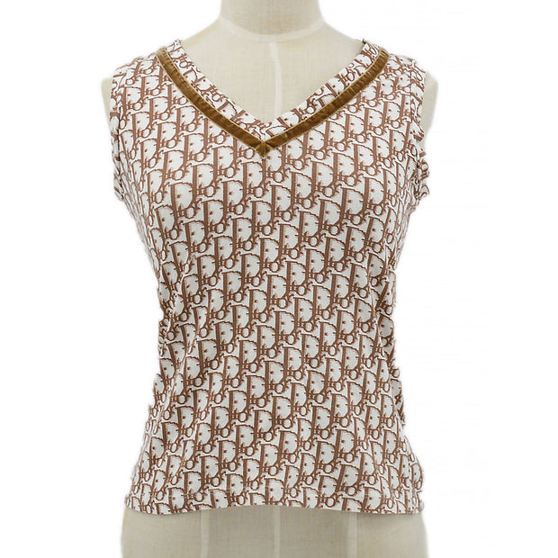 Christian Dior Trotter Sleeveless Tops Brown