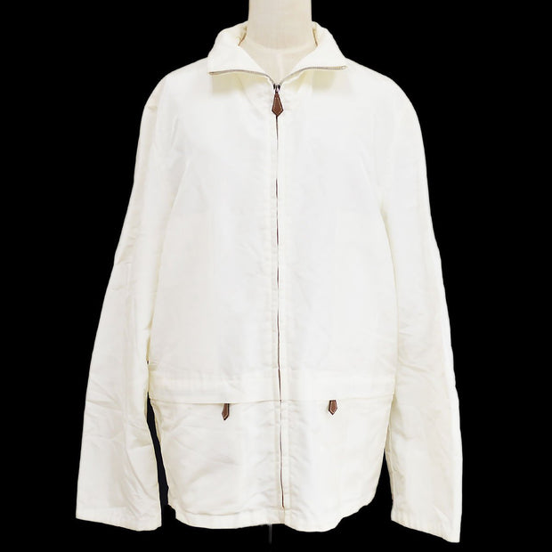 HERMES Zip-up Jacket White #48