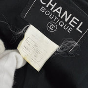 CHANEL 96A #40 Long Coat Black
