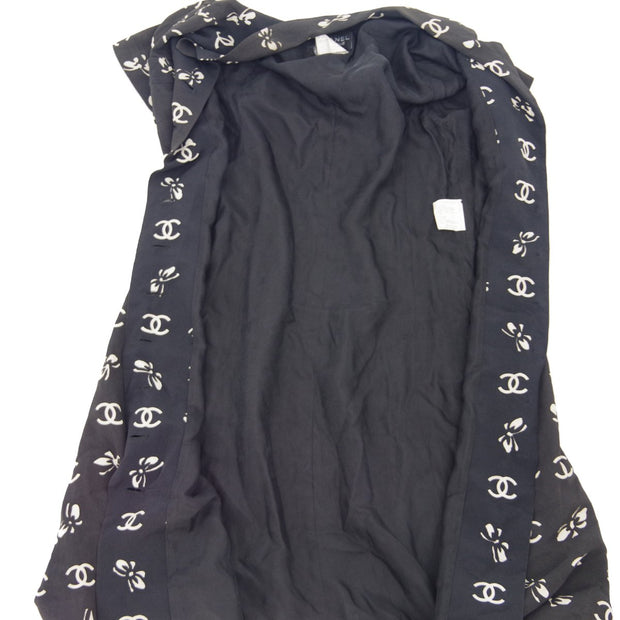 CHANEL 97C #36 One Piece Dress Skirt Black