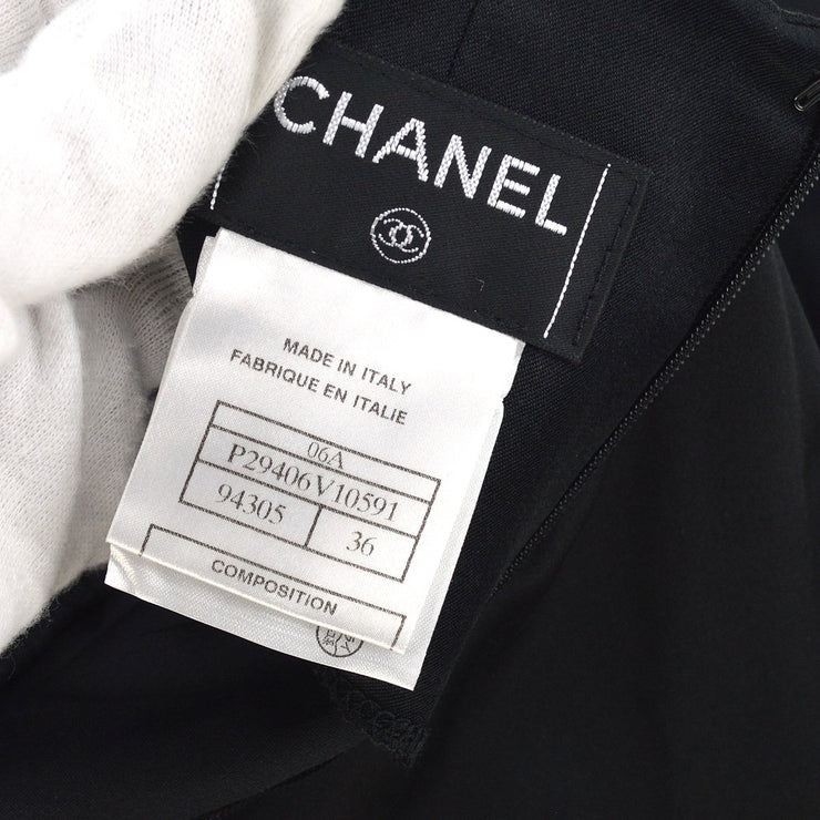 CHANEL 06A #36 Wideleg Long Pants Black