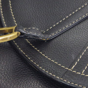 Christian Dior Saddle Shoulder Bag Black