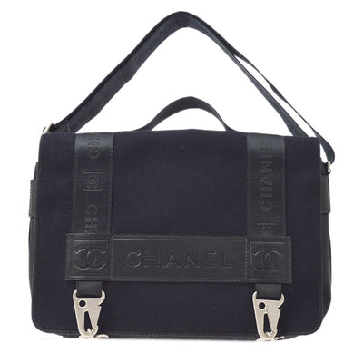 CHANEL Sports Line 2way Messenger Shoulder Hand Bag Black