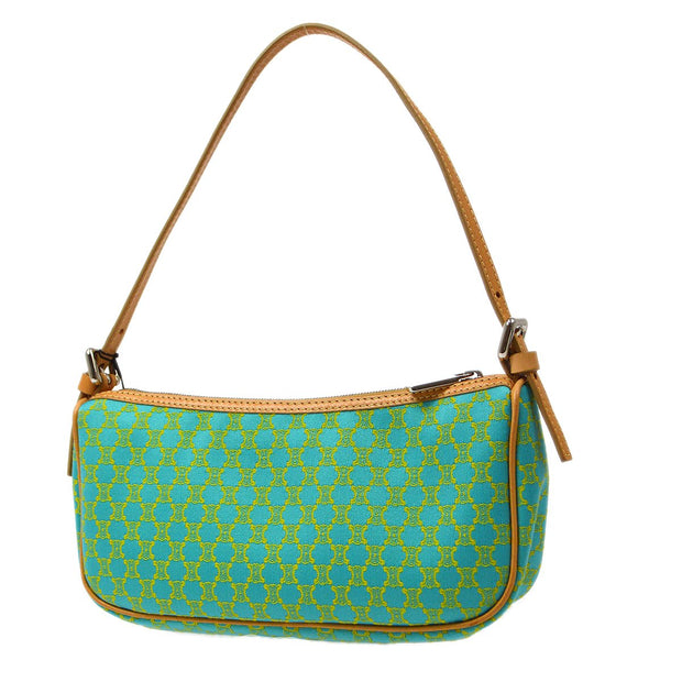 CELINE Macadam pattern Hand Bag Green