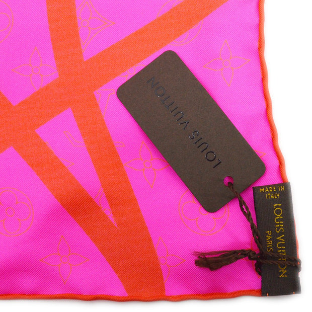 Louis Vuitton Handkerchief Bandana Fluo Rose Pink M71894