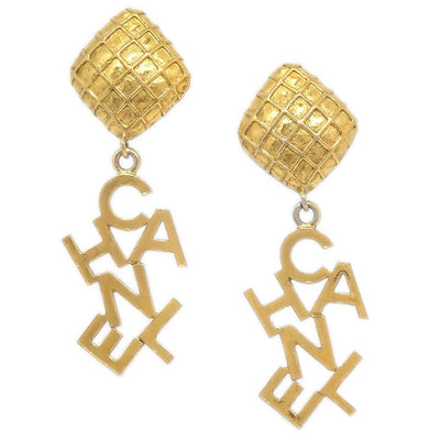 CHANEL Shaking Earrings Clip-On Gold