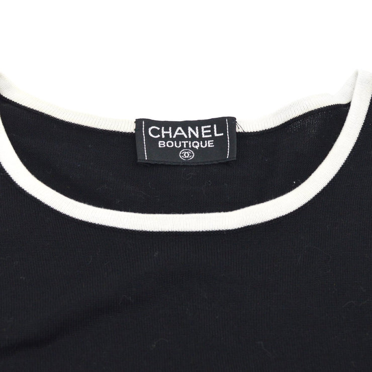CHANEL #42 Round Neck Short Sleeve Tops Black