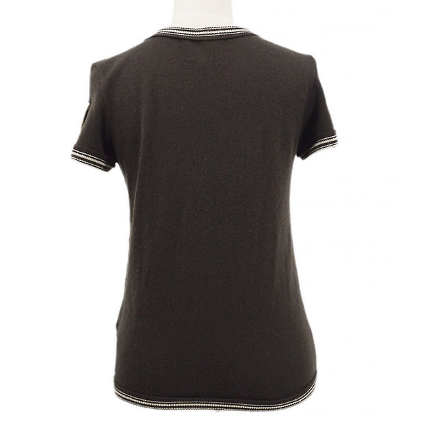 CHANEL 05C #38 Sport Line Short Sleeve Knit Tops Brown
