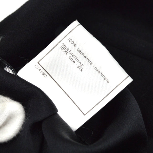 CHANEL 98A #38 Long Sleeve Jacket Coat Black