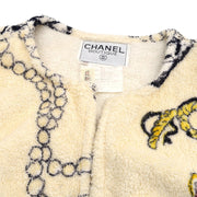 CHANEL 95P #38 Bathrobe Style Icon Coat Gown Ivory