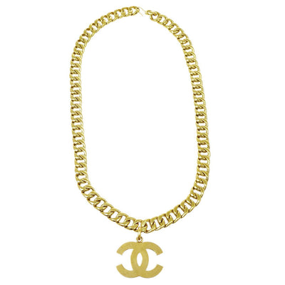 CHANEL Jumbo Charm Gold Chain Belt Aessories 94P
