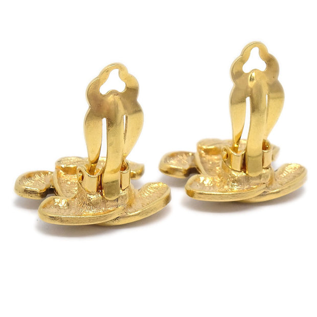CHANEL Earrings Clip-On Gold-Tone 2433