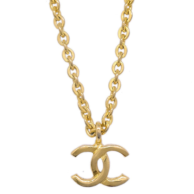CHANEL Mini Charm Gold Chain Pendant Necklace 376 1982