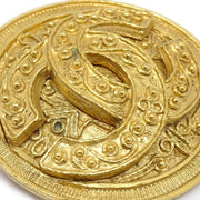 CHANEL Medallion Brooch Gold-Tone 94A