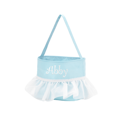 Blue Tutu Easter Basket-Personalization Available
