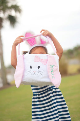 Pink Hippity Hoppity Easter Basket-Free Personalization!