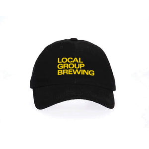 Black/Yellow Local Group Brewing Flex Fit
