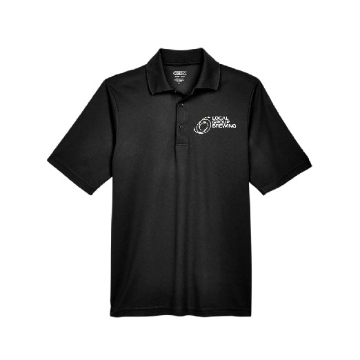 Mens Black Logo Polo Shirt