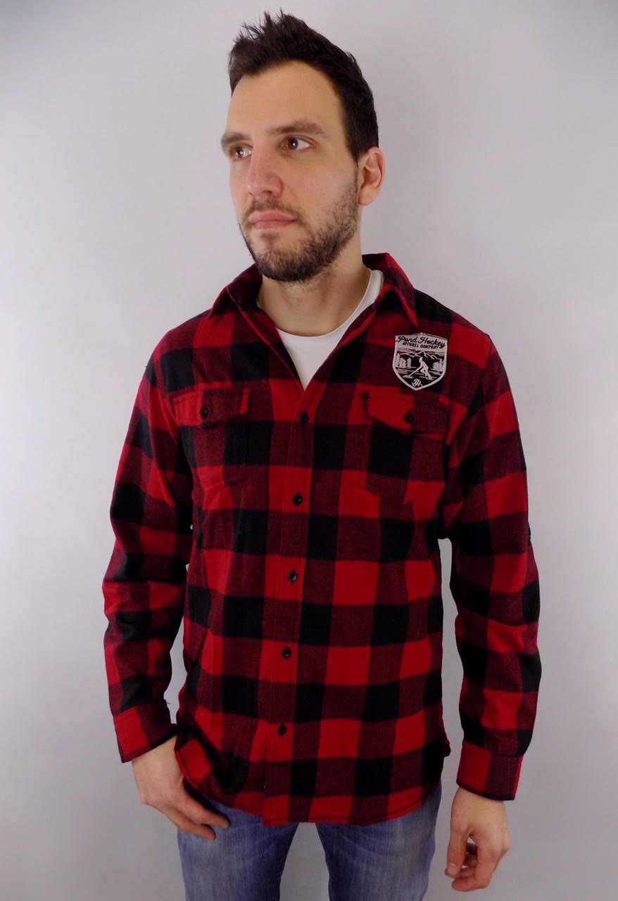 Men's Plaid Flannel Button Down
