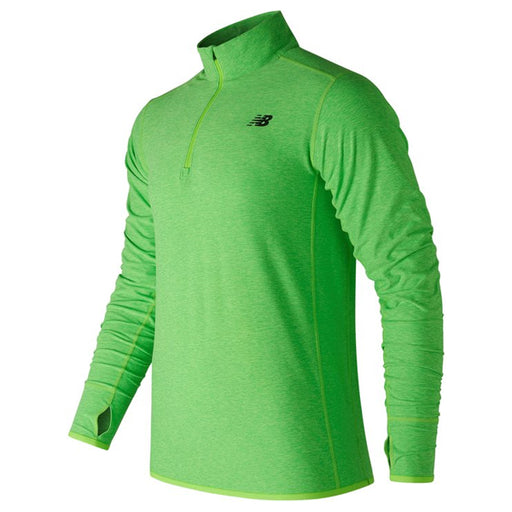 Camiseta de Manga Larga Hombre New Balance TOP SPACE Verde