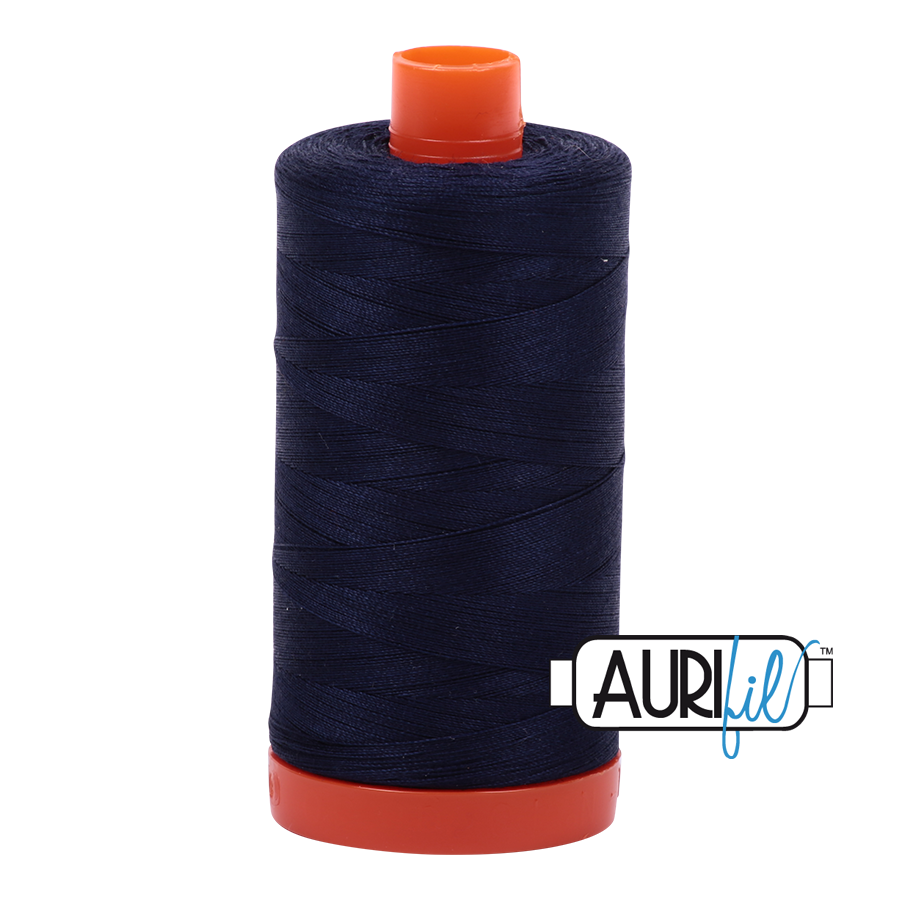 Aurifil 50 WT Cotton Very Dark Navy #2785