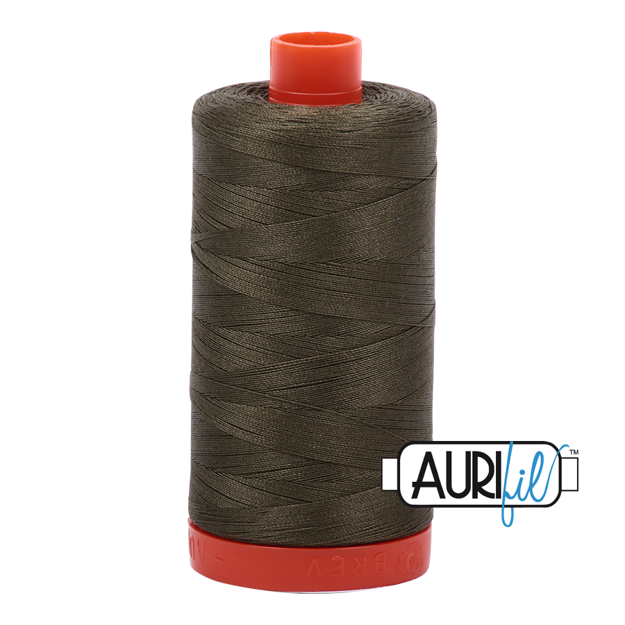 Aurifil 50 WT Cotton Army Green #2905