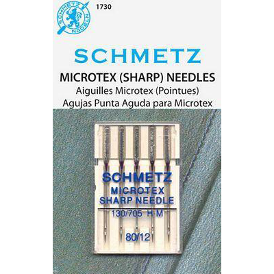Schmetz - Microtex (Sharp) Needles Size 80/12