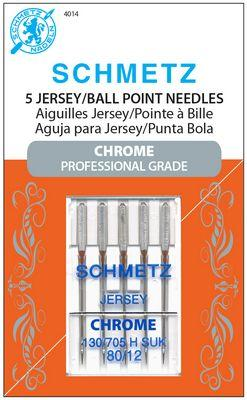 Schmetz Chrome Ball Point 80/12 Carded 5 Pack