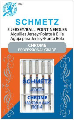 Schmetz Chrome Ball Point 90/14 Carded 5 Pack