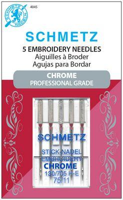 Schmetz Chrome Embroidery 75/11 Carded 5 Pack