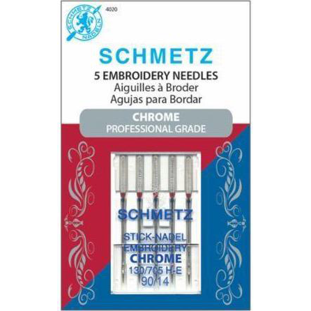 Schmetz Chrome Embroidery Needles Size 90/14