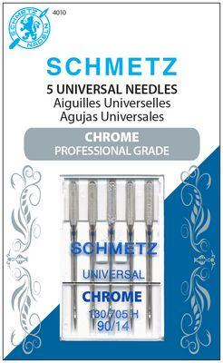 Schmetz Chrome Universal 90/14 Carded 5 Pack