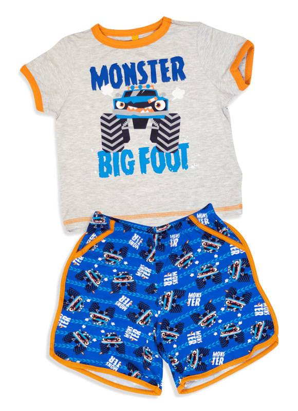 Pijama Short Manga Corta de Viscosa Colección Monster Car