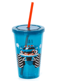 Vaso con Cañita Monster Car