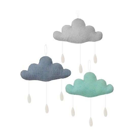 Beautiful little cloud mobiles in various colours