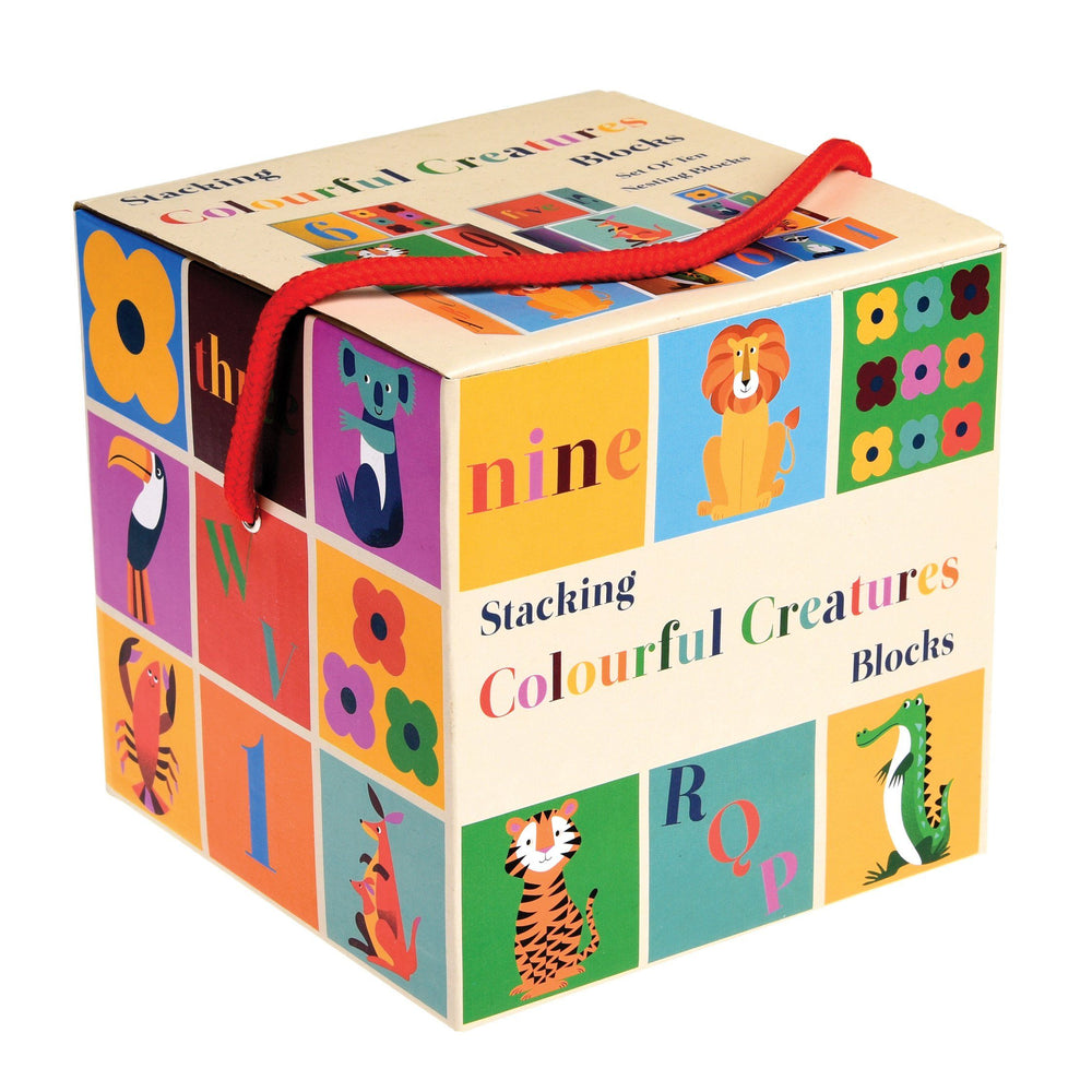 ABC & Numbers Colourful Stacking Blocks